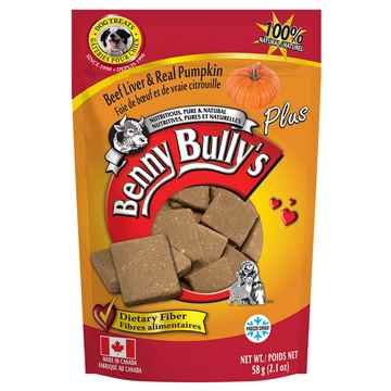 Picture of TREAT BEEF LIVER PLUS PUMPKIN  Benny Bullys - 58g