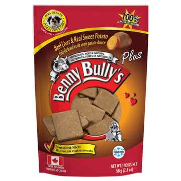 Picture of TREAT BEEF LIVER PLUS Sweet Potato Benny Bullys - 58g