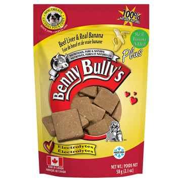 Picture of TREAT BEEF LIVER PLUS BANANA  Benny Bullys - 58g