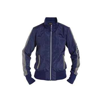 Picture of BACK ON TRACK MONROE WOMANS JACKET BLUE & SILVER XSMALL
