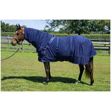 Picture of BACK ON TRACK MESH RUG w/ HOOD NAVY   78in