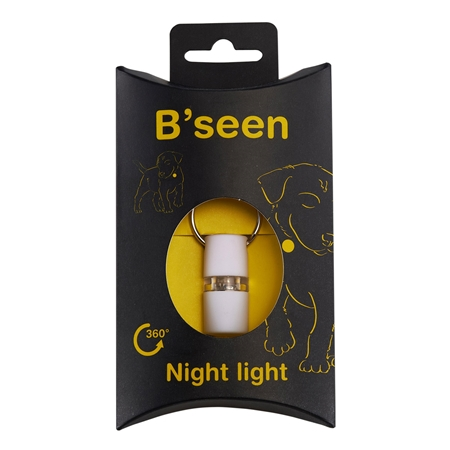 Picture of B SEEN 360 NIGHT LIGHT SAFETY TAG  - White