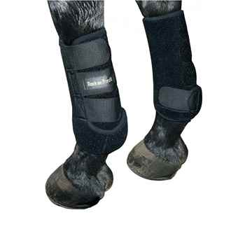 Picture of BACK ON TRACK EXERCISE BOOTS FRONT BLK LARGE