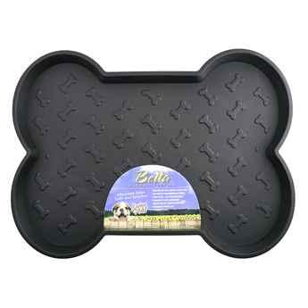 Picture of BELLA SPILL PROOF DOG BONE SHAPED MAT Large- Black