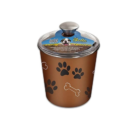 Picture of BELLA BOWL CANISTER with Paws and Bones - Copper