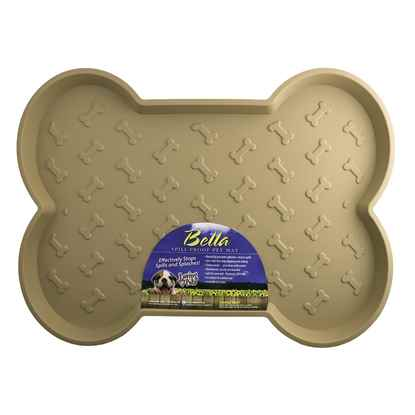 Picture of BELLA SPILL PROOF DOG BONE SHAPED MAT Large- Tan