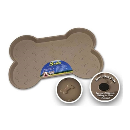 Picture of BELLA SPILL PROOF DOG BONE SHAPED MAT Small - Tan