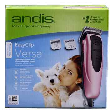 Picture of CLIPPER ANDIS EASY CLIP 11pc PINK Grooming Kit