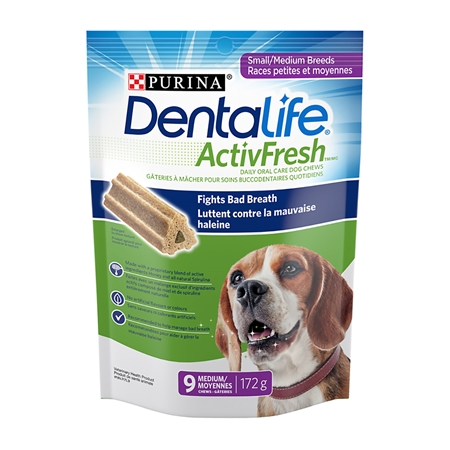 Picture of CANINE DENTALIFE ACTIVFRESH ORAL CHEW S/M DOGS - 172gm