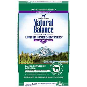 Picture of CANINE NATURAL BALANCE Large Breed LID Lamb & Brown Rice -26lbs