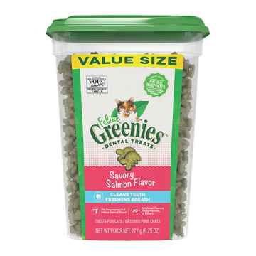 Picture of GREENIE FELINE DENTAL TREAT Savory Salmon - 9.75oz tub