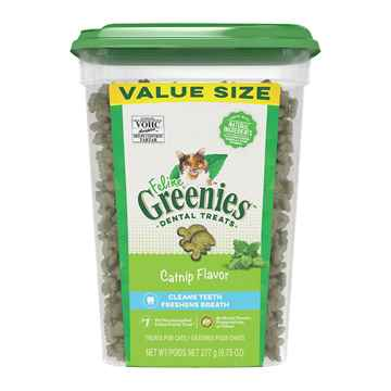 Picture of GREENIE FELINE DENTAL TREAT Catnip - 9.75oz tub(tu)