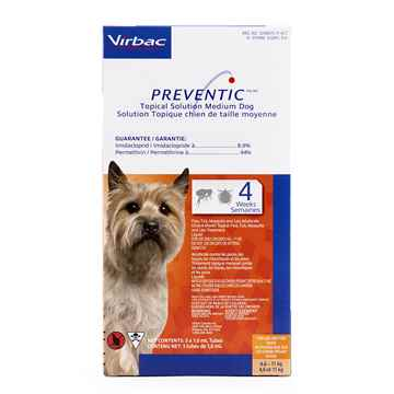Picture of PREVENTIC TOPICAL SOLUTION for MEDIUM DOGS - 3s
