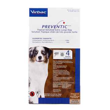 Picture of PREVENTIC TOPICAL SOLUTION for  XLARGE DOGS - 3s