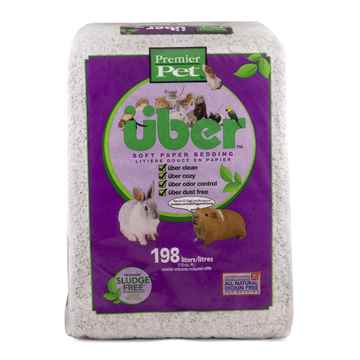 Picture of PREMIER PET UBER CONFETTI SOFT PAPER BEDDING White - 198L expanded