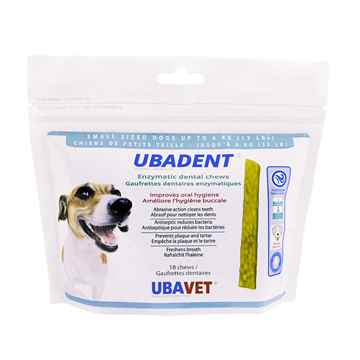 Picture of UBADENT ENZYMATIC DENTAL CHEWS for SMALL DOGS - 18s