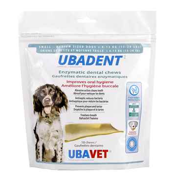 Picture of UBADENT ENZYMATIC DENTAL CHEWS for SMALL/MED DOGS - 18s
