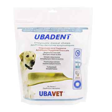 Picture of UBADENT ENZYMATIC DENTAL CHEWS for MED/LARGE DOGS - 18s