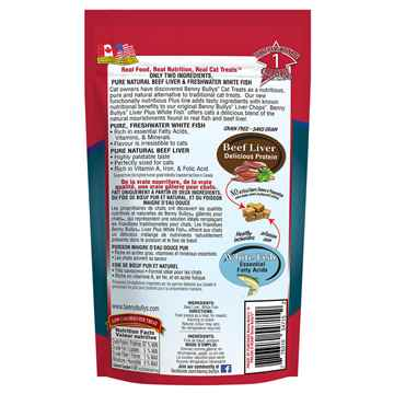 Picture of TREAT FELINE BENNY BULLY'S PLUS Beef Liver & Fish - 25g