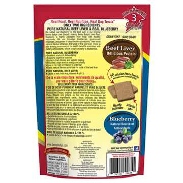 Picture of TREAT BEEF LIVER PLUS BLUEBERRY Benny Bullys - 58g