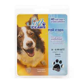 Picture of SOFT CLAWS TAKE HOME KIT CANINE  X-SMALL - Black