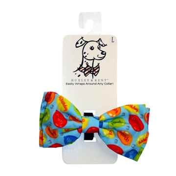 Picture of CANINE BOW TIE Party Time - Blue