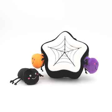 Picture of HALLOWEEN BURROW SPIDER WEB with SPIDERS(nr)