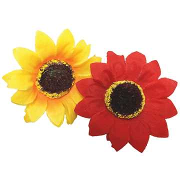 Picture of CANINE SUNFLOWER NECK WEAR 2 PACK RED & YELLOW - X Small/Small