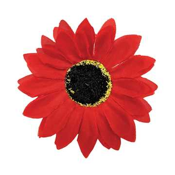 Picture of CANINE SUNFLOWER NECK WEAR RED - Medium/Large