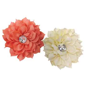 Picture of CANINE POSIES NECK WEAR 2 PACK CORAL & CREAM - X Small/Small