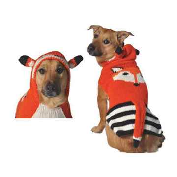 Picture of SWEATER CANINE Chilly Dog - Foxy Hoodie with Ears and Tail