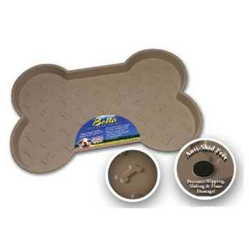 Picture of BELLA SPILL PROOF DOG BONE SHAPED MAT - Tan