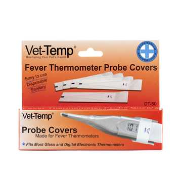 Picture of THERMOMETER VET-TEMP PROBE COVERS (DT-50) - 50's