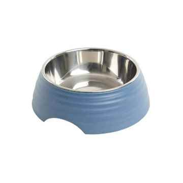 Picture of BOWL BUSTER 2-IN-1 MELAMINE Frosted Ripple - Dusty Blue