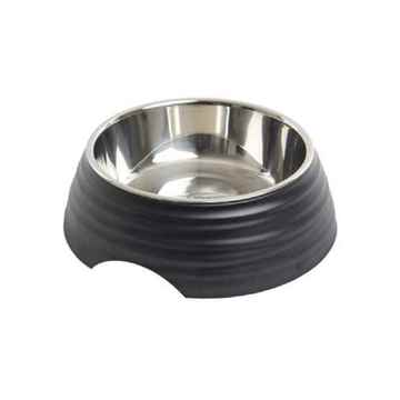 Picture of BOWL BUSTER 2-IN-1 MELAMINE Frosted Ripple - Matte Black