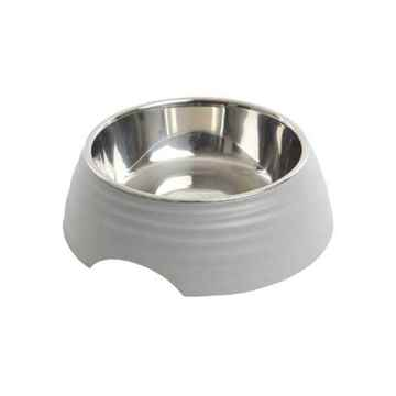 Picture of BOWL BUSTER 2-IN-1 MELAMINE Frosted Ripple - Matte Grey