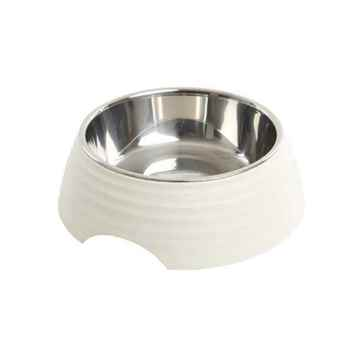 Picture of BOWL BUSTER 2-IN-1 MELAMINE Frosted Ripple - Matte White