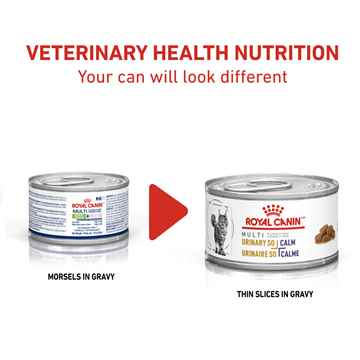 Picture of FELINE RC URINARY SO + CALM THIN SLICES in GRAVY - 24 x 85gm cans