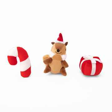Picture of XMAS HOLIDAY ZIPPY PAWS Holiday Miniz Festive Friends - 3/pk(nr)