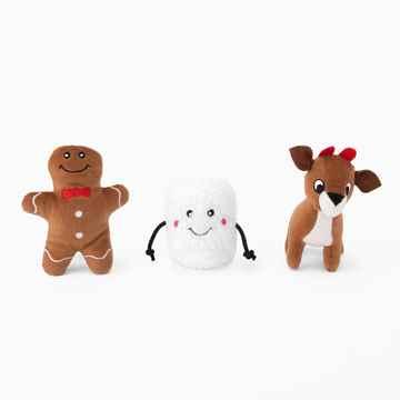 Picture of XMAS HOLIDAY ZIPPY PAWS Holiday Miniz Santa's Friends - 3/pk(nr)