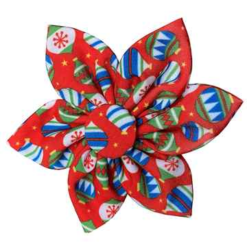 Picture of XMAS CANINE PINWHEEL NECK WEAR Bedecked  - Small