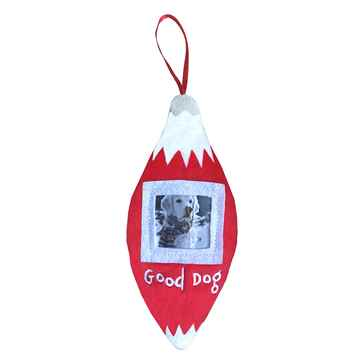 Picture of XMAS HOLIDAY PICTURE FRAME ORNAMENT - Good Dog(nr)
