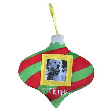 Picture of XMAS HOLIDAY PICTURE FRAME ORNAMENT - I Tried(nr)