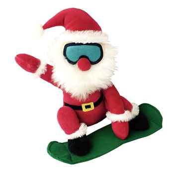 Picture of XMAS HOLIDAY PETLOU Plush Snow Ski Santa - 10in(nr)