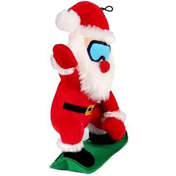 Picture of XMAS HOLIDAY PETLOU Plush Snow Ski Santa - 10in(nr)
