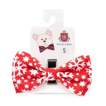 Picture of XMAS CANINE BOW TIE Snowflake (S-L)