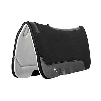 Picture of BACK ON TRACK MADDOX WESTERN SADDLE PAD BLK 32in x 32in