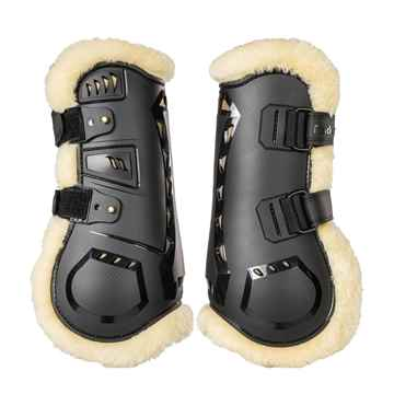 Picture of BACK ON TRACK AIRFLOW TENDON BOOTS w/ FUR FULL PAIR
