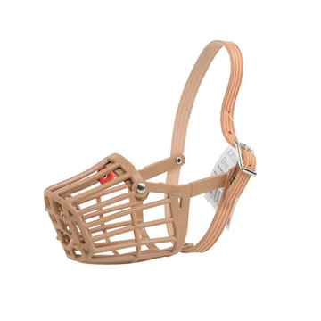 Picture of MUZZLE PLASTIC BASKET CANINE BUSTER Standard Buckle (Sizes Available)
