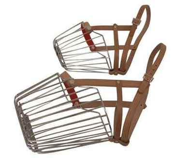 Picture of MUZZLE WIRE BASKET with Leather Strap (Sizes Available)